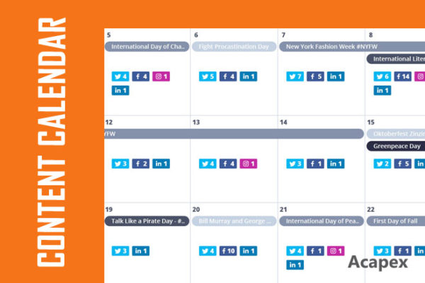 If content is King, consistency is queen. Use a Content Calendar to churn awesome content on the clock.