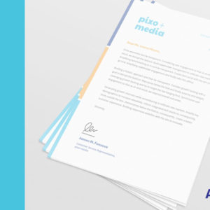 Get your official letterhead design to send important and confidential information. Use it to correspond with your customers, employees, bank and government.